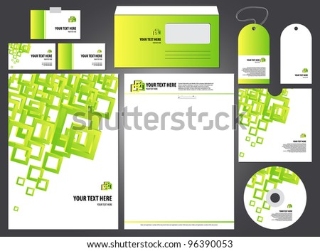 editable bright empty corporate identity template. vector