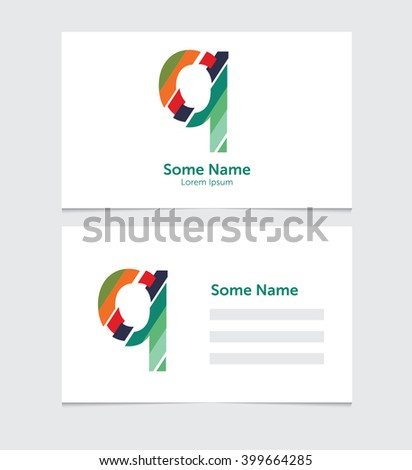 Editable business card template illustration vector stock vector editable business card template with illustration of vector q letter logo flashek Gallery