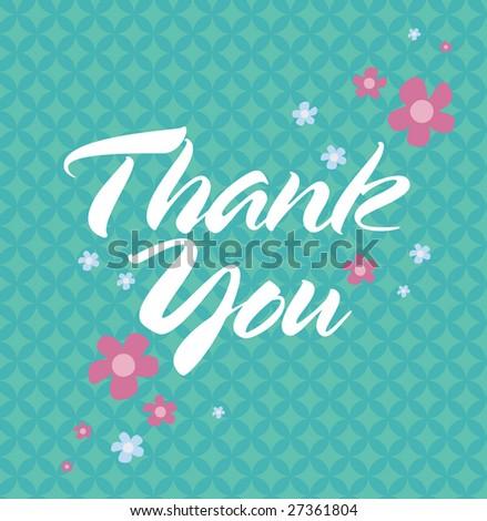 Editable Thank You Card - stock vector
