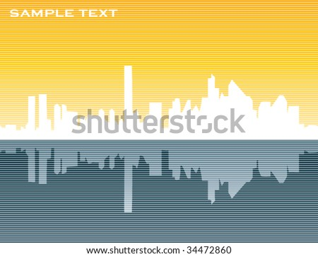 Editable urban background