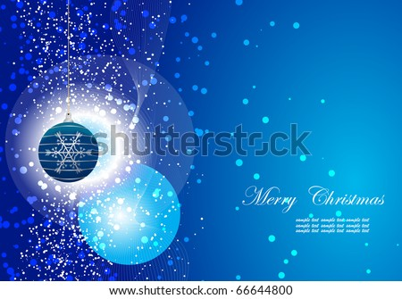 Editable vector Christmas background with space for your text - stock vector