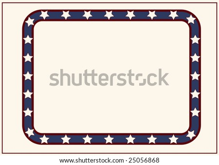 Editable vector decorative  stars and stripes frame with space for your text or image.