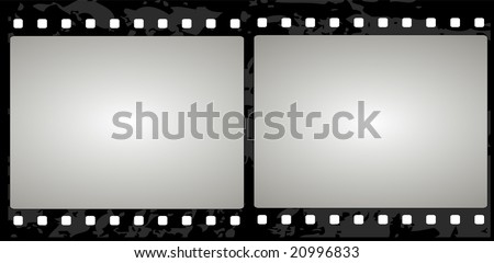 Editable vector film frame background with space for your text or image. - stock vector