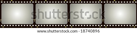 Editable vector  film frame with space for your images - stock vector