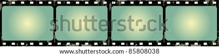 Editable vector grunge film frame background with space for your text or image.  More images like this in my portfolio - stock vector