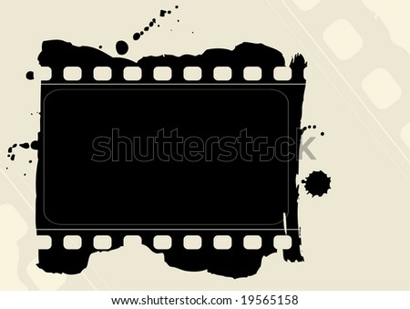Editable vector grunge film frame. More images like this in my portfolio - stock vector