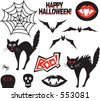 Editable vector Halloween design elements. - stock vector