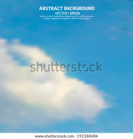 Editable vector illustration of light clouds in a blue sky made using a gradient mesh Vector EPS 10 illustration. - stock vector