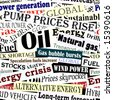 Editable vector seamless tile of energy headlines - stock photo
