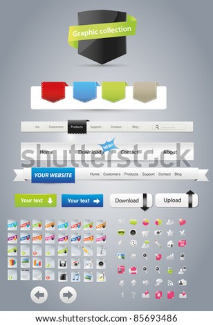 Editable web graphics - stock vector