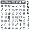 Education and science sign,icon set,vector - stock vector