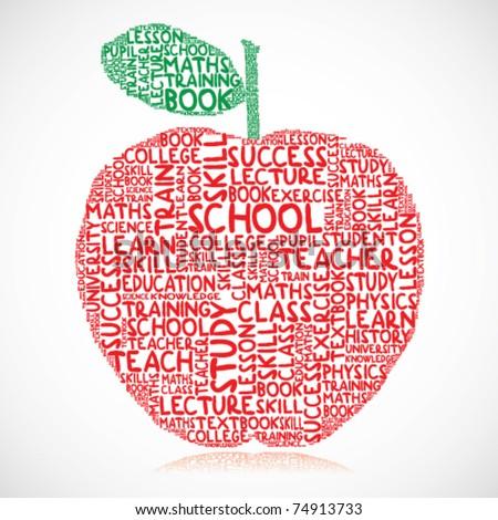 Education apple - stock vector