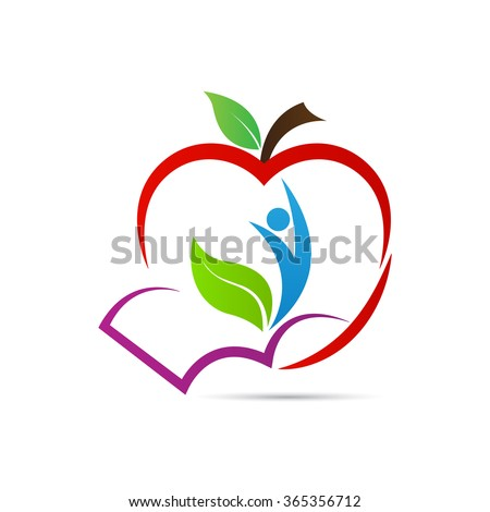 education apple vector design represents school logo education emblem concept