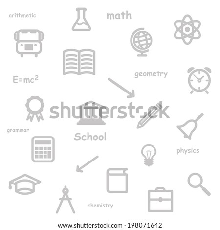 education background gray. vector seamless pattern. eps10