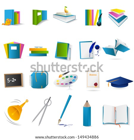 Education & Business Icons Set - Isolated On White Background - Vector Illustration, Graphic Design Editable For Your Design.