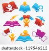 education collection signs, symbol and icons - stock photo
