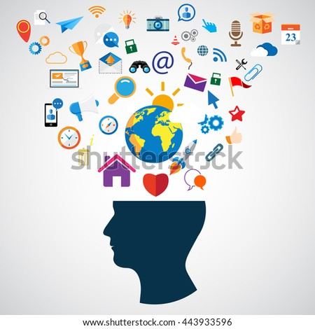 Education concept - stock vector