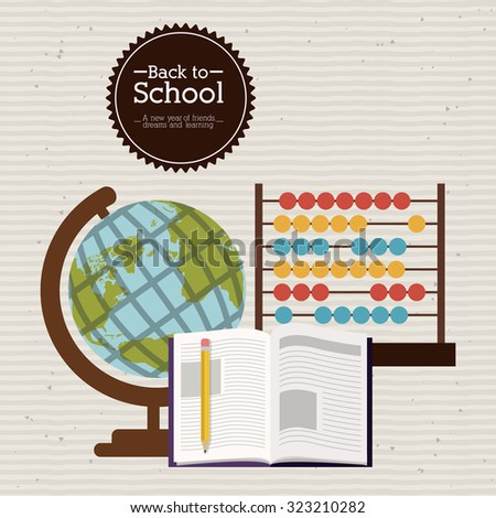 Education concept with back to school icons design, vector illustration eps 10