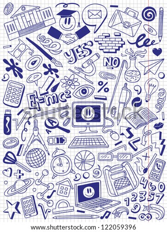 Education - doodles collection - stock vector
