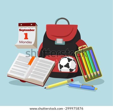Education flat cartoon illustration - stock vector
