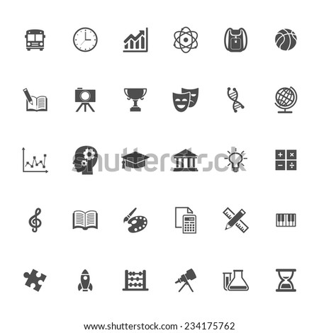 Education flat Icon - stock vector