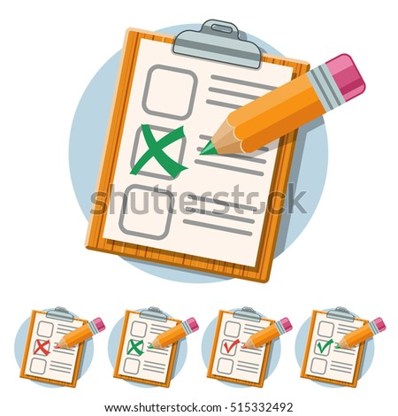 Education Flat Icon Set Flyer Poster Stock Vector