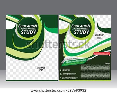 education flyer template design & magazine vector illustration  - stock vector