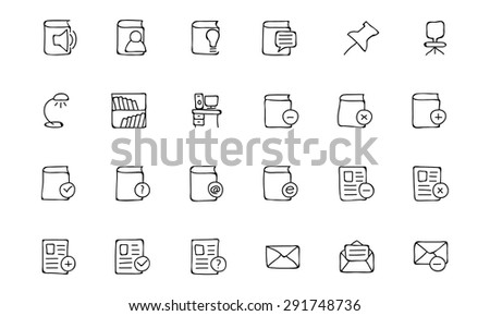 Education Hand Drawn Doodle Icons 7 - stock vector