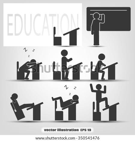 Education icon  - stock vector