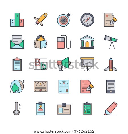 Education icon 5 - stock vector