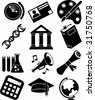 Education Icon Black Set - stock vector