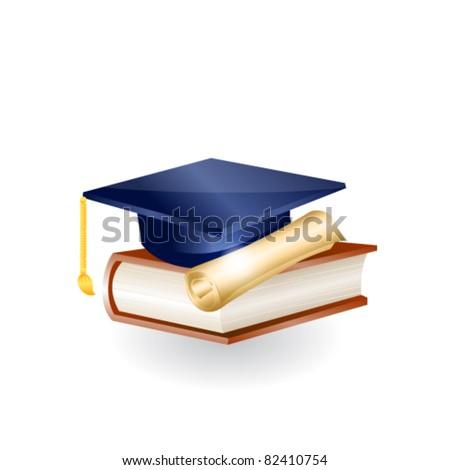 Education icon. Vector - stock vector