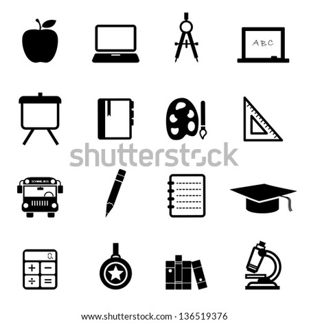 Education Icons black