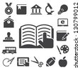 Education icons set. Illustration eps 10 - stock photo