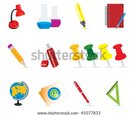 Education Icons set. Vector illustration - stock vector