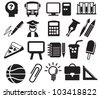 education icons, signs, vector illustration set - stock photo