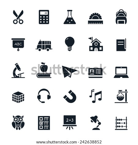 Education icons Vector illustration - stock vector