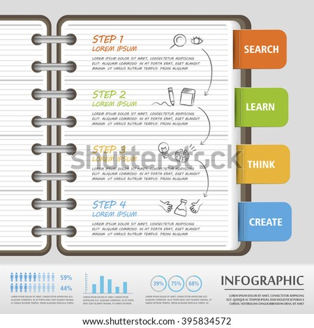 Education Infographic Template Design Reading Tree Stock Vector ...