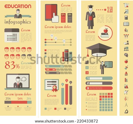 Education Infographics. - stock vector