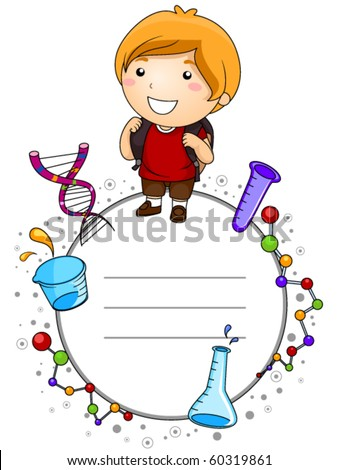 Education Kid with Space for Text - Vector - stock vector