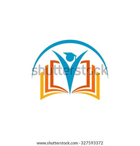 Education Logo Template - stock vector