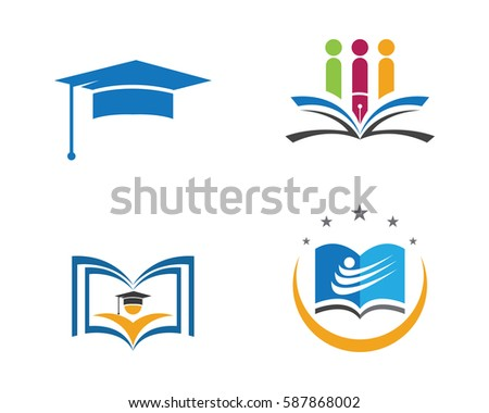 education logo template vector illustration design stock vector