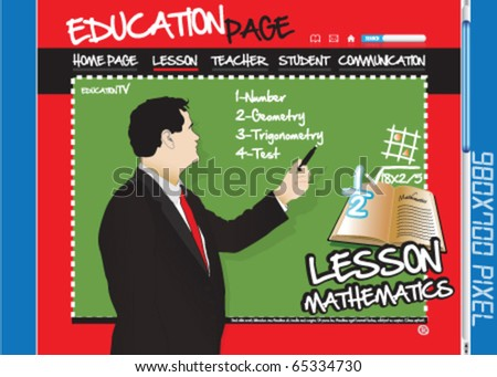 Education page, website, mathematics