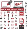 education & school signs. vector - stock vector