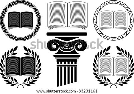 education. stencil. third variant. vector illustration - stock vector