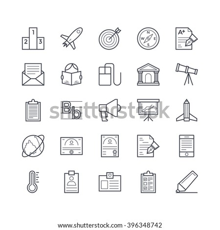 Education Vector Icons 5 - stock vector