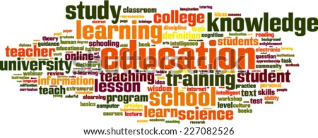 Education word cloud concept. Vector illustration - stock vector