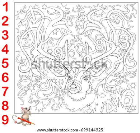 educational page for children need to find the numbers hidden in the picture and paint - Hidden Pictures For Children