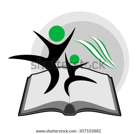 educative book symbol - stock vector
