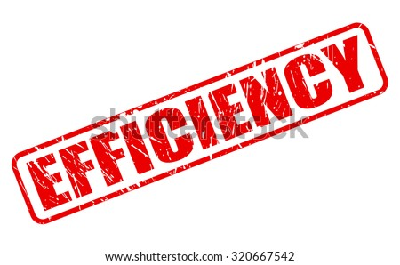 EFFICIENCY red stamp text on white - stock vector